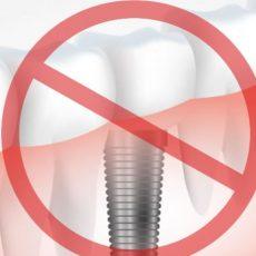Les contre-indications de l'implantologie dentaire
